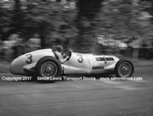Mercedes W125 Manfred Von Brausitsch at speed 1937 Donington GP (A)